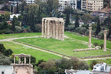 Temple of Zeus from Athens Acropolis 2010 2.jpg