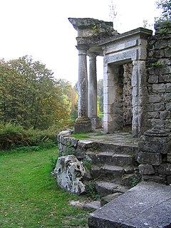Parc Jean-Jacques Rousseau English garden in Ermenonville, France