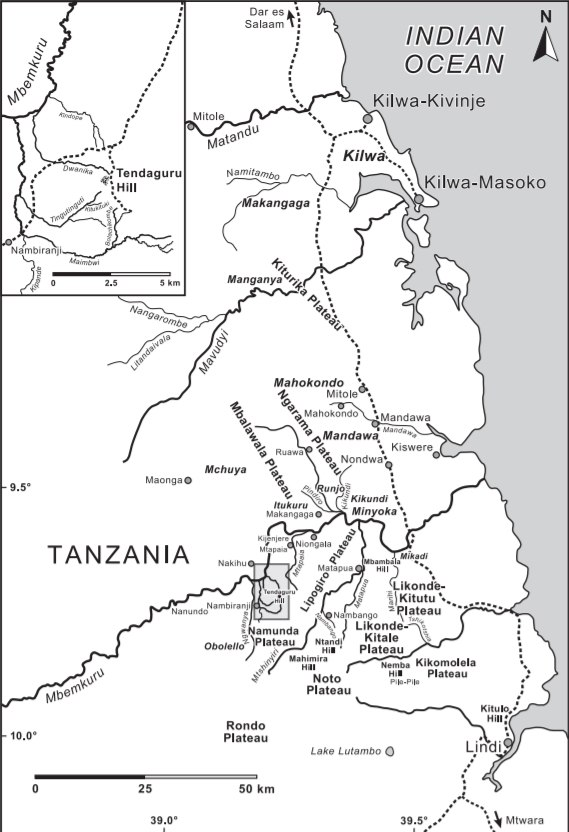 Tendaguru location map