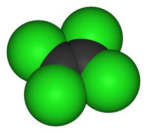 Tetrachloroethylene - Image: Tetrachloroethylene 3D vd W