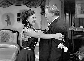 Ella Raines - Raines and Charles Laughton in The Suspect (1944)
