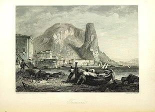 Terracina in una pubblicazione del 1864