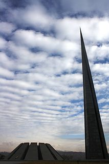 Tsitsernakaberd Memorial complex dedicated to the victims of the Armenian Genocide