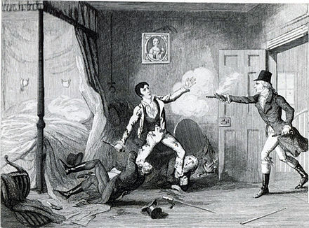 Arrest of Lord Edward Fitzgerald (George Cruikshank). The Arrest of Lord Edward Fitzgerald by George Cruikshank.jpg