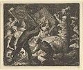 The Bear is Attacked by the Peasants from Hendrick van Alcmar's Renard The Fox MET DP837696.jpg