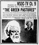 Newspaper advertisement for The Green Pastures