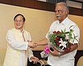 The Chief Minister of Arunachal Pradesh, Shri Nabam Tuki meeting the Union Minister for Civil Aviation, Shri Ashok Gajapathi Raju Pusapati, in New Delhi on July 17, 2014.jpg