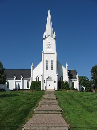 Aurora, Ohio - The Church in Aurora, part of Aurora's historic district