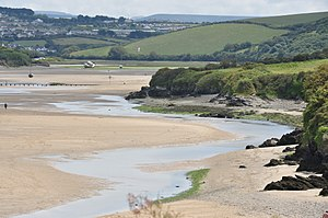River Gannel - Image: The Gannel above Crantock Beach (6049)