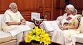 The Governor of Goa, Smt. Mridula Sinha calling on the Prime Minister, Shri Narendra Modi, in New Delhi on June 16, 2015.jpg