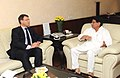 The High Commissioner of Australia in India, Mr. Patrick Suckling meeting the Union Minister for Civil Aviation, Shri Ajit Singh, in New Delhi on April 12, 2013.jpg