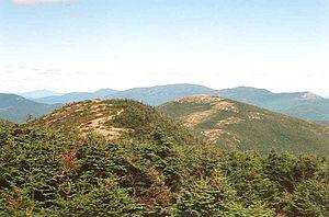 Saddleback Horn - The Horn (R), seen from Saddleback Mtn. ridge