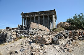 The Ionic Temple of Garni, built c. AD 77 during the reign of Tiridates I of Armenia (ruled c. AD 63 - c. 88), Armenia (30627458817).jpg