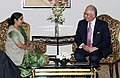 The Leader of Opposition in Lok Sabha, Smt. Sushma Swaraj meeting the Prime Minister of Malaysia, Dato' Sri Mohd Najib Tun Abdul Razak, in New Delhi on January 20, 2010.jpg