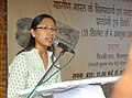 The Minister of State of Rural Development, Ms. Agatha Sangma addressing at the inauguration of SARAS Mela, in New Delhi on September 19, 2009.jpg