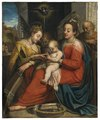 The Mystic Marriage of St Catherine (Denys Calvaert) - Nationalmuseum - 17192.tif