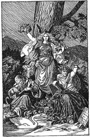 "Urðarbrunnr - ""The Norns"" (1901) by Karl Ehrenberg."