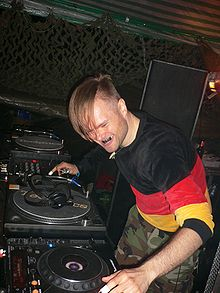 The Panacea deejaying in 2006.