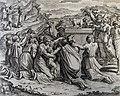 The Phillip Medhurst Picture Torah 454. Worshipping the golden calf. Exodus cap 32 vv 5-19. after Raphael.jpg