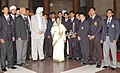 The President, Smt. Pratibha Devisingh Patil with the Indian Hockey Team, in New Delhi on October 30, 2007.jpg
