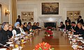The Prime Minister, Dr. Manmohan Singh and the Prime Minister of Cambodia, Mr. Hun Sen at the delegation level talks in New Delhi on December 08, 2007.jpg