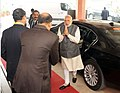 The Prime Minister, Shri Narendra Modi arrives at the PETROTECH-2016 12th International Oil & Gas Conference and Exhibition, in New Delhi on December 05, 2016.jpg