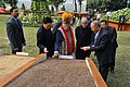 The Prime Minister, Shri Narendra Modi visiting the organic product exhibition, in Gangtok on January 19, 2016. The Chief Minister of Sikkim, Shri Pawan Kumar Chamling is also seen.jpg