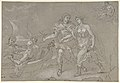 The Rape of Helena; verso- Study of a Kneeling Nude Male Figure MET DP800159.jpg