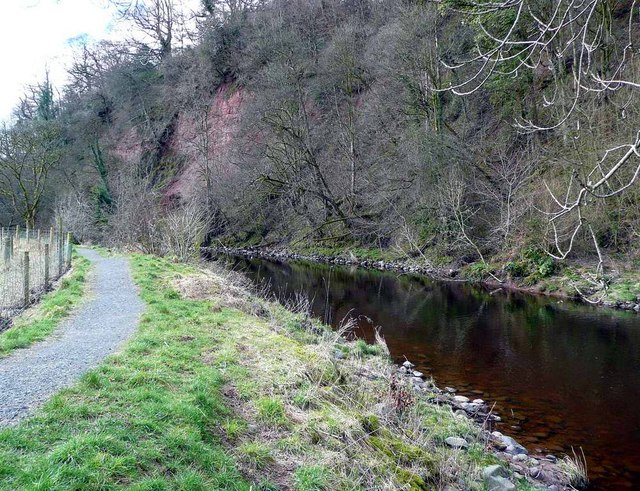 The River Ayr Way west of Catrine - geograph.org.uk - 734047