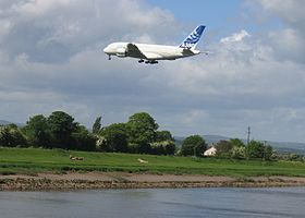 The River Dee and the Airbus A380 - geograph.org.uk - 290112.jpg