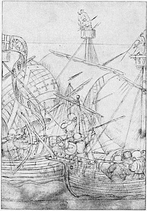 The Royal Navy, a History from the Earliest Times to Present Volume 1 - From the MS. Life of Richard Beauchamp, Earl of Warwick (p 376).jpg
