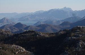 Rumija - Image: The Rumija Mountain and the Skadar Lake