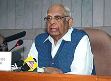 The Speaker, Lok Sabha, Shri Somnath Chatterjee addressing a press conference, in New Delhi on February 27, 2009.jpg