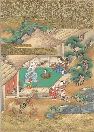The Tale of the Bamboo Cutter - Discovery of Princess Kaguya (depiction from the Edo period, late 17th century)