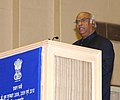 The Union Minister for Labour and Employment, Shri Mallikarjun Kharge addressing at the presentation ceremony of the Prime Minister's Shram Awards for the years 2008, 2009 and 2010, in New Delhi on October 13, 2011.jpg