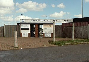 Maldon & Tiptree F.C. - Image: The entrance to Maldon Town Football Club geograph.org.uk 791011
