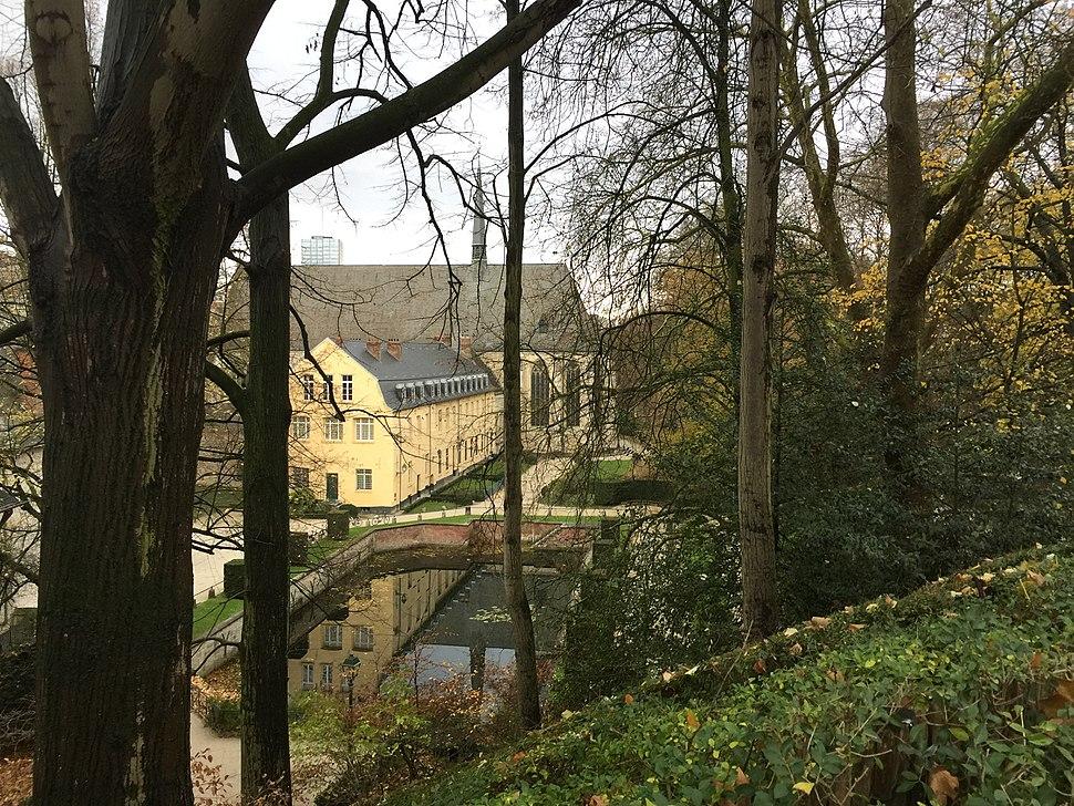 The fishpond of la Cambre Abbey