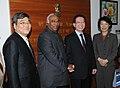 The former Speaker and Member of the Republic of Korea, Mr. Kim Hyong-O meeting the Union Minister for Labour and Employment, Shri Mallikarjun Kharge, in New Delhi on January 12, 2012.jpg
