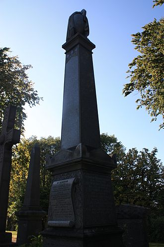 David Semple (antiquarian) - The grave of David Semple, Woodside Cemetery, Paisley