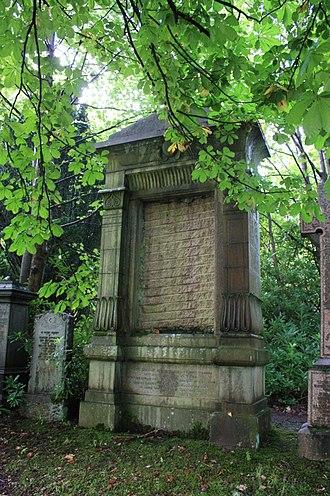James Sellars - The grave of James Sellars, Lambhill Cemetery, Glasgow
