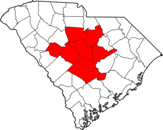 Midlands of South Carolina - The eight counties that usually compose the Midlands.