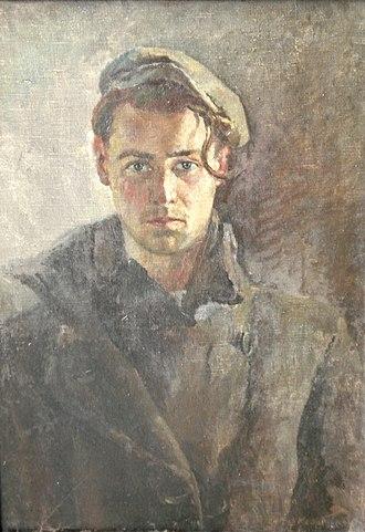 Ludwik Konarzewski-junior - The self-portrait, Kraków 1942