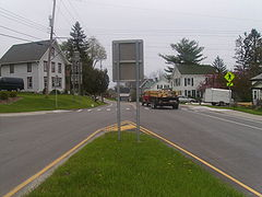The western terminus of NY 206 in Whitney Point.JPG