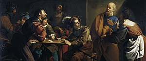 Theodoor Rombouts - The denial of Saint Peter