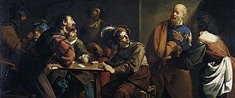 Theodoor Rombouts - The denial of Saint Peter