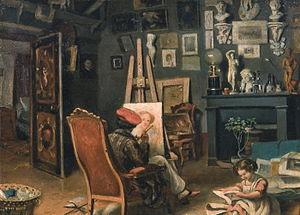 Theodor Aman - Image: Theodor Aman Primul atelier al pictorului la Paris