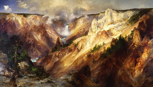 The Grand Canyon of the Yellowstone, Smithsonian American Art Museum Gallery of Thomas Moran paintings Thomas Moran - Grand Canyon of the Yellowstone - Smithsonian.jpg