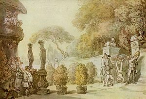 Vauxhall Gardens - Entrance to Vauxhall Gardens by Thomas Rowlandson