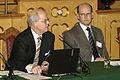 Thomas ostros, Sveriges utbildningsminister och prof. Gustav Bjorkstrand (Bilden ar tagen vid Nordiska radets session i Oslo, 2003) (2).jpg