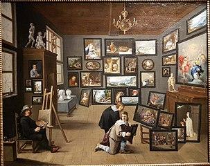 L'artiste dans son atelier